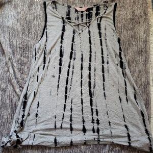 Gray Tie dye Tank top size 1x
